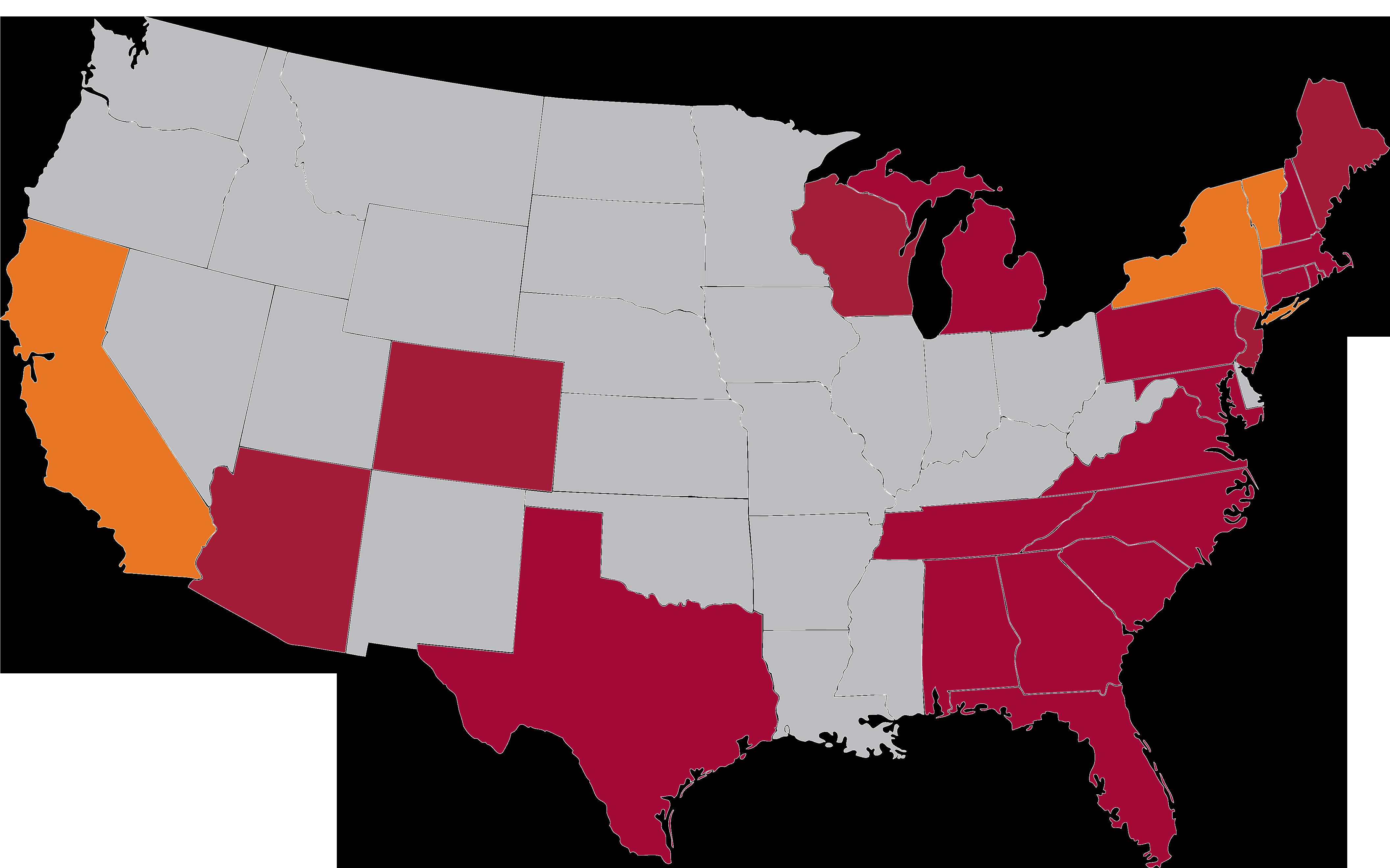 radius map licensed states